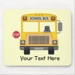"""Customizable School Bus Mouse Pad<br><div class=""""desc"""">What a great gift for any school bus driver!  You can even personalize it with a name or special message!</div>"""