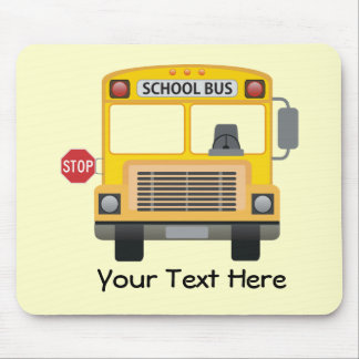 Customizable School Bus Mouse Pad
