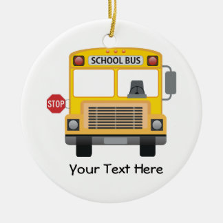 Customizable School Bus Ornament