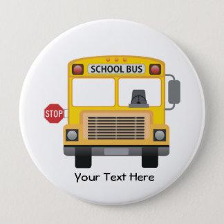 Customizable School Bus Pinback Button
