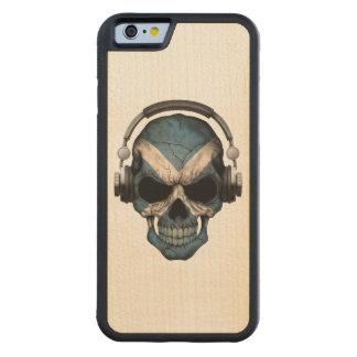 Customizable Scottish Dj Skull with Headphones Carved® Maple iPhone 6 Bumper Case