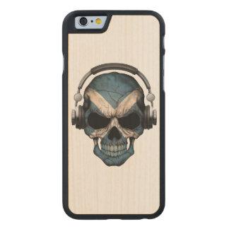 Customizable Scottish Dj Skull with Headphones Carved® Maple iPhone 6 Slim Case