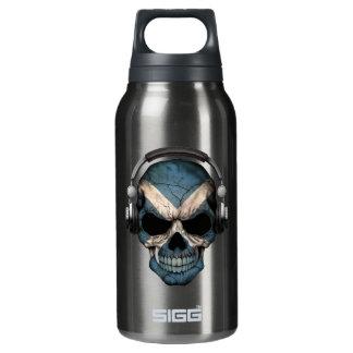 Customizable Scottish Dj Skull with Headphones Insulated Water Bottle