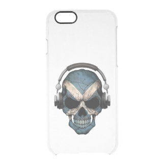 Customizable Scottish Dj Skull with Headphones Uncommon Clearly™ Deflector iPhone 6 Case