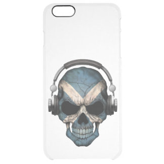 Customizable Scottish Dj Skull with Headphones Uncommon Clearly™ Deflector iPhone 6 Plus Case