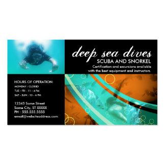 customizable scuba and snorkel business card