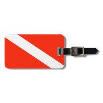 Customizable Scuba Flag Luggage Tag