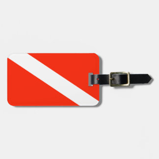 Customizable Scuba Flag Luggage Tag