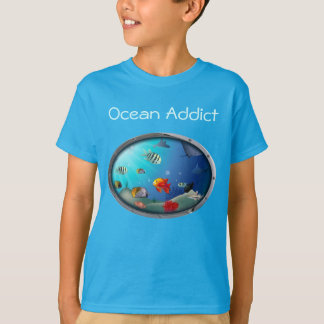 Customizable Sea Life Scene T-Shirt