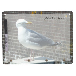 Customizable Seagull looking back Dry Erase Board With Keychain Holder
