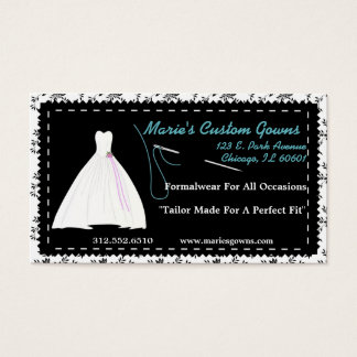 Customizable Seamstress/Boutique Business Card
