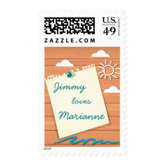 Customizable Seaside Resort Stamp