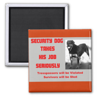 Customizable Security Dog Magnets