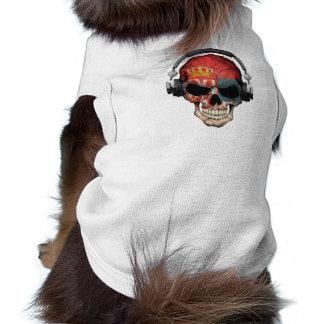 Customizable Serbian Dj Skull with Headphones Dog Tshirt