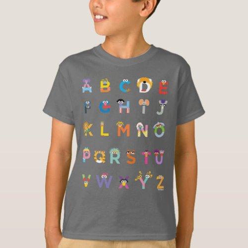 Customizable Sesame Street Alphabet T_Shirt