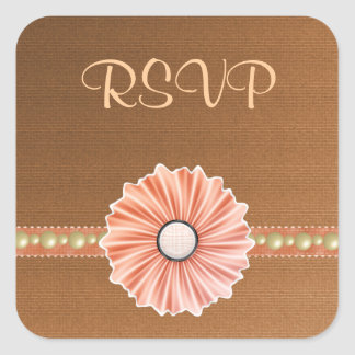 Customizable Shades of Autumn RSVP Stickers
