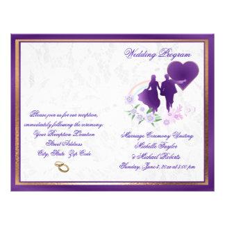 Customizable Shades of Lavender Wedding Program