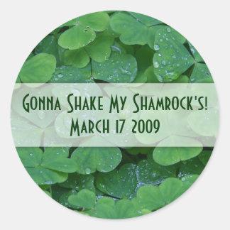 Customizable Shake my Shamrock Stickers