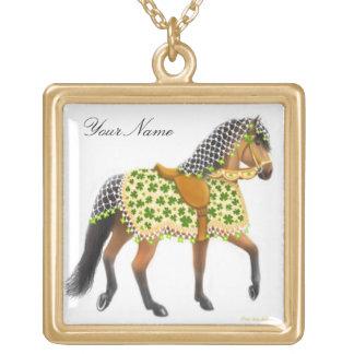 Customizable Shamrock Parade Horse Necklace
