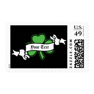 Customizable Shamrock St. Patrick's Day Stamps