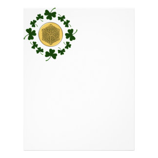 CUSTOMIZABLE!  Shamrocks - Gold Irish Celtic Flyer