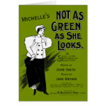 Customizable She's Not as Green as She Looks Card