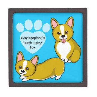 Customizable Shiba Inu and Temari Tooth Fairy Box