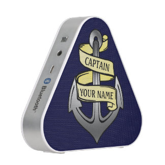 Customizable Ship Captain Your Name Anchor Bluetooth Speaker