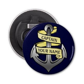 Customizable Ship Captain Your Name Anchor Bottle Opener