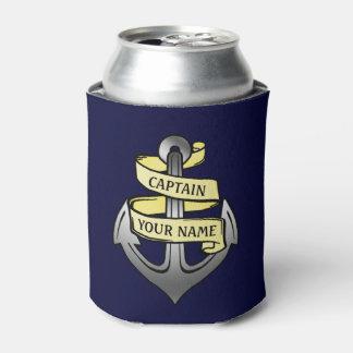 Customizable Ship Captain Your Name Anchor Can Cooler