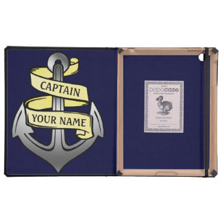 Customizable Ship Captain Your Name Anchor Cover For iPad