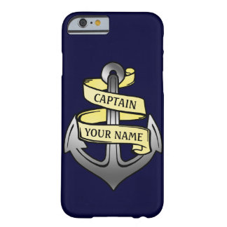 Customizable Ship Captain Your Name Anchor Barely There iPhone 6 Case