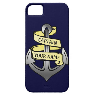 Customizable Ship Captain Your Name Anchor iPhone 5 Cover