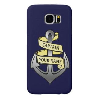 Customizable Ship Captain Your Name Anchor Samsung Galaxy S6 Cases