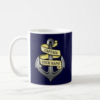 Customizable Ship Captain Your Name Anchor Coffee Mug