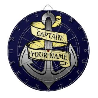 Customizable Ship Captain Your Name Anchor Dart Board