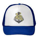 Customizable Ship Captain Your Name Anchor Hats
