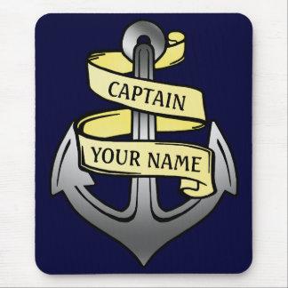 Customizable Ship Captain Your Name Anchor Mouse Pad