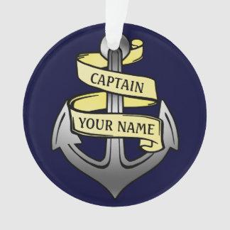 Customizable Ship Captain Your Name Anchor Ornament