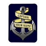 Customizable Ship Captain Your Name Anchor Rectangular Photo Magnet