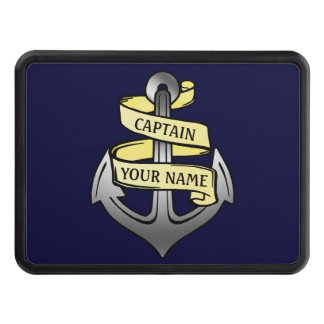 Customizable Ship Captain Your Name Anchor Tow Hitch Cover
