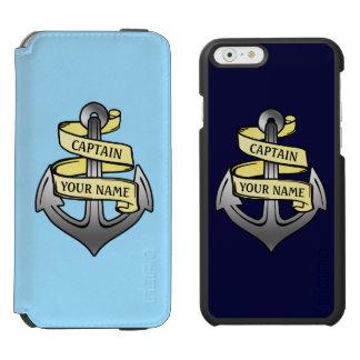 Customizable Ship Captain Your Name Anchor Incipio Watson™ iPhone 6 Wallet Case