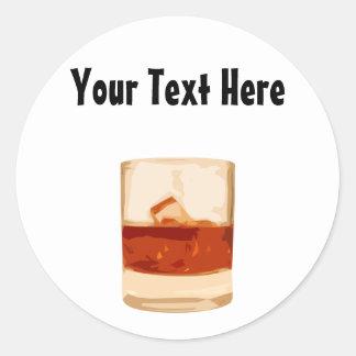Customizable Shot Tumbler Glass Sticker
