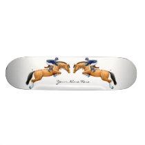 Customizable Show Jumper Horses Skateboard