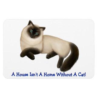 Customizable Siamese Longhaired Cat Premium Magnet