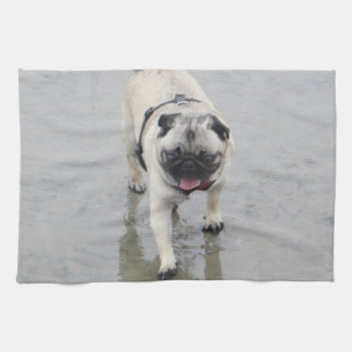 Customizable Sid at the Beach Photo Kitchen Towel