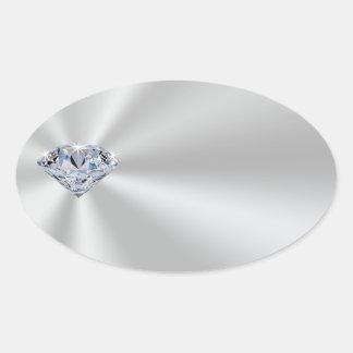 Customizable Silver Colored Diamond Stickers