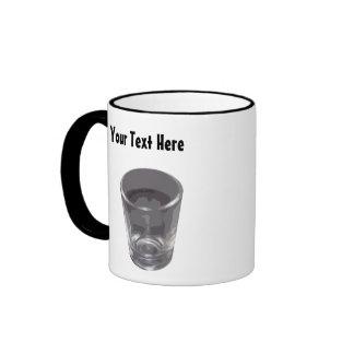 Customizable Silver Shot Glass Coffee Mug