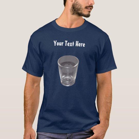 Customizable Silver Shot Glass Dark T-Shirt