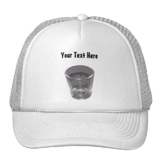 Customizable Silver Shot Glass Hat